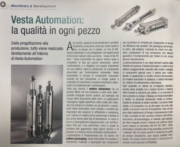 Vesta Automation: the quality in every piece